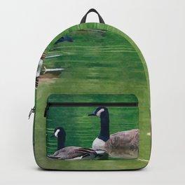 Canadian Geese - Digital Oil Backpack
