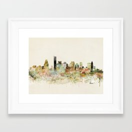 Boston Massachusetts skyline Framed Art Print