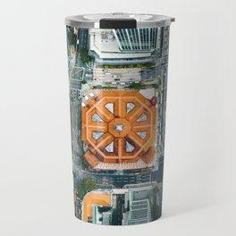 Aerial Cityscape View (Color) Travel Mug