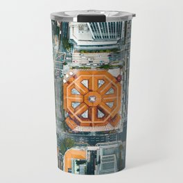 Aerial Cityscape View (Color) Travel Mug