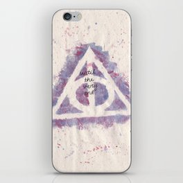 deathly hallows (in purple) iPhone Skin