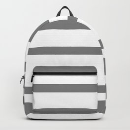 Mixed Horizontal Stripes - White and Gray Backpack