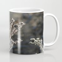 jack frost Mugs featuring Jack Frost Was Here by AdrienneW