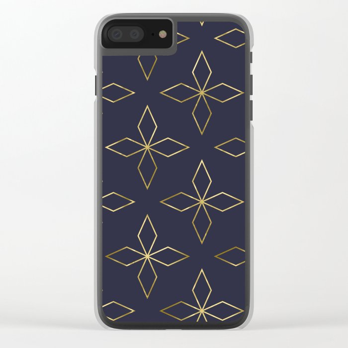 Gold Modern Deco 2 Clear iPhone Case