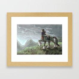 Centaur Mother and Foal Framed Art Print