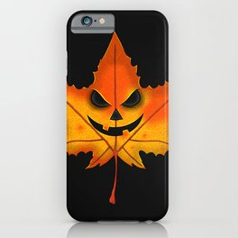 Spooky Leaf iPhone Case