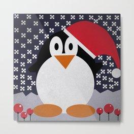 christmas pinguin Metal Print