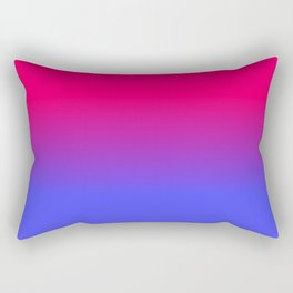 Neon Blue and Bright Neon Pink Ombré Shade Color Fade Rectangular Pillow
