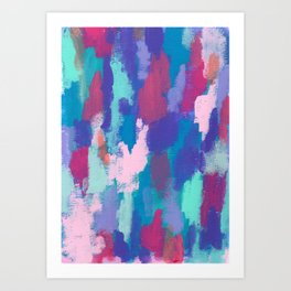 Dream Big no.0 - abstract painting colorful modern art Art Print