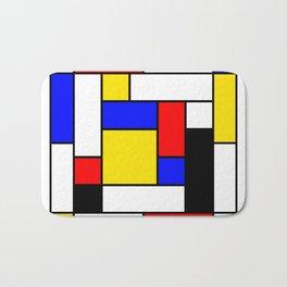 Mondrian Geometric Art 2 Bath Mat