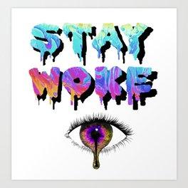 Stay Woke Pastel Art Print