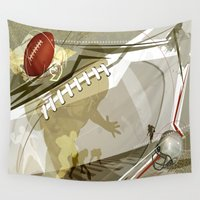 football Wall Tapestries featuring Football by Robin Curtiss