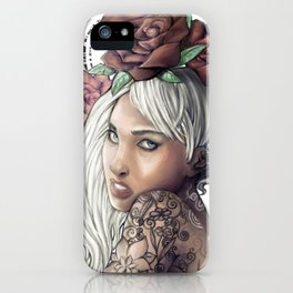 Queen of Flowers iPhone Case