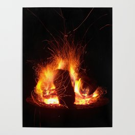 """""""Fire Photo 3"""" Poster"""
