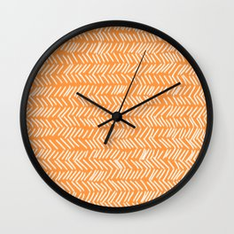 Sherbet Herringbone Lines Wall Clock