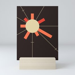 paper sun || charcoal Mini Art Print