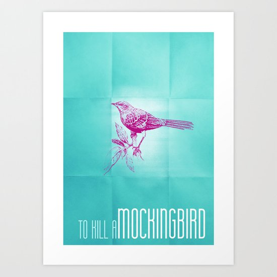 To kill a mockingbird minimal book poster art print by for Minimal art book