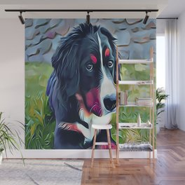 Burnese Mountain Dog Puppy Wall Mural