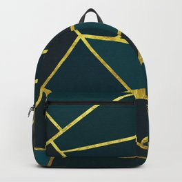 The Color of Teal And Gold Backpack