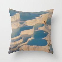 pamukkale winter frozen Throw Pillow