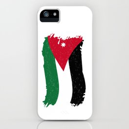 Jordanian Flag Stylized iPhone Case