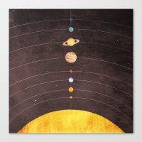 solar system Canvas Prints featuring Solar System by Annisa Tiara Utami