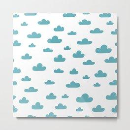 cloud pattern Metal Print
