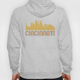 Vintage Style Cincinnati Ohio Skyline Hoody