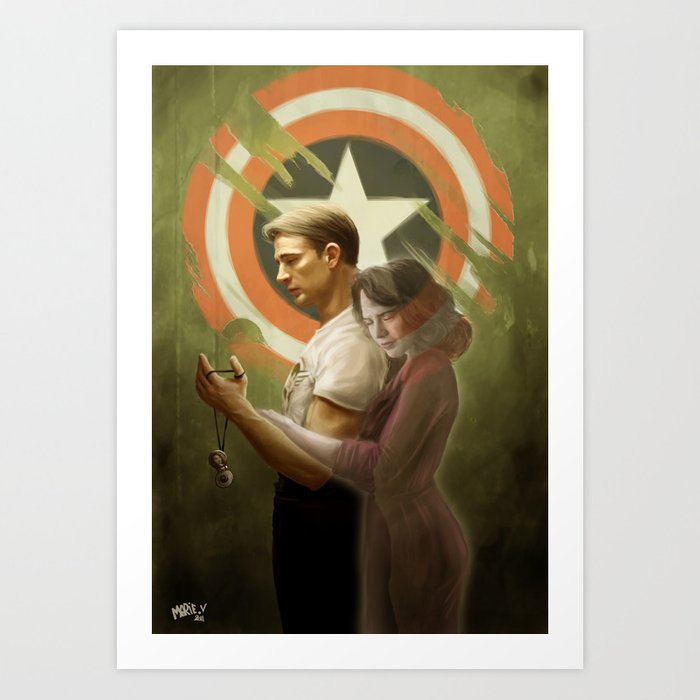 """But I had a date..."" Steve and Peggy Art Print"