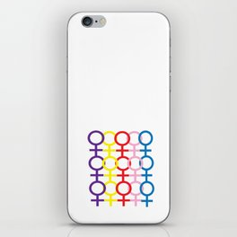 Stand together iPhone Skin