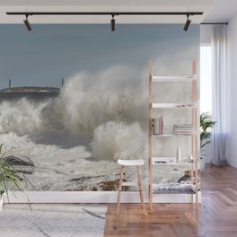 Huge waves on the backshore Wall Mural