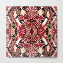 Fragmented Geometric Abstract Design Metal Print