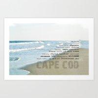 cape cod Art Prints featuring cape cod by marie grady palcic