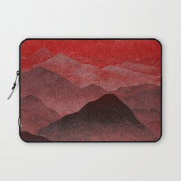 Through hilly lands and hollow lands - Red option Laptop Sleeve