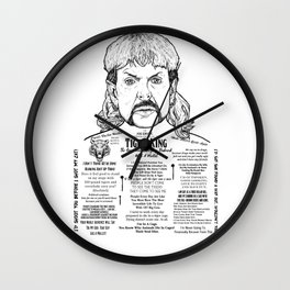 Here Kitty Kitty Ink'd Series Wall Clock