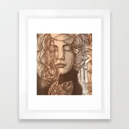 Pretty Peachy Framed Art Print