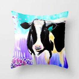 Divine Bovine Throw Pillow