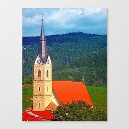 The village church of Reichenau I   architectural photography Canvas Print