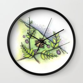 frog by the water Wall Clock