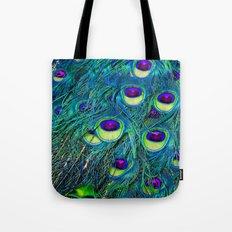 Trippy Peacock Tote Bag