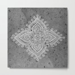 Henna Inspired 5 Metal Print