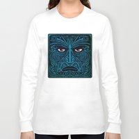 maori Long Sleeve T-shirts featuring maori style 03 by Alexis Bacci Leveille