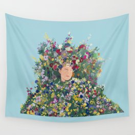 Midsommar May Queen Wall Tapestry