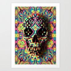 Fancy Skull Art Print