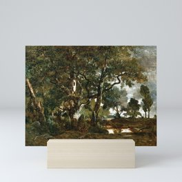 Théodore Rousseau Forest of Fontainebleau, Cluster of Tall Trees Overlooking the Plain of Clair-Bois Mini Art Print