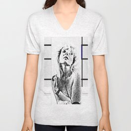 woman with cylinder Unisex V-Neck