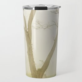 Calming Morning Landscape Photograph Tree & Fog Travel Mug