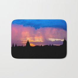 Sunset in Bagan, Myanmar Bath Mat