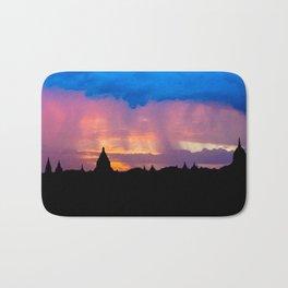 Sunset in Bagan, Myanmar Bath Mat