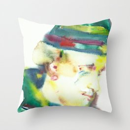 FREDERICK ROLFE - watercolor portrait Throw Pillow
